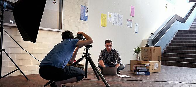 Making Of Fotoshooting in der Uni Siegen