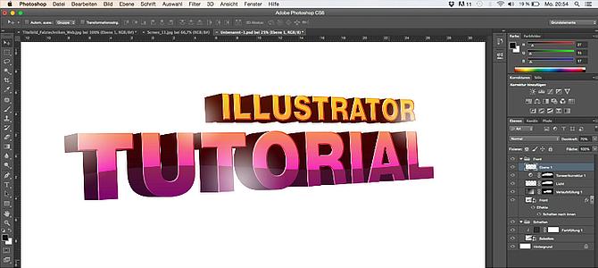 3D-Text mit Hilfe von Illustrator und Photoshop erstellen