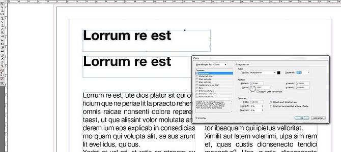 Adobe InDesigns Basics - Effekte kopieren