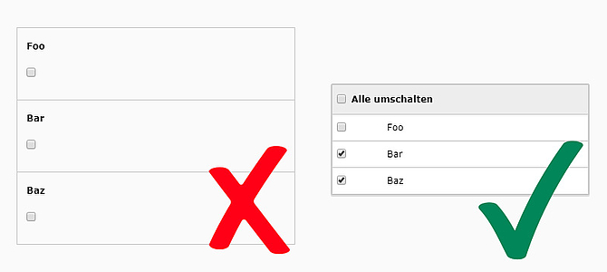 TYPO3 HowTo: Grouping Multiple Checkboxes in DCE