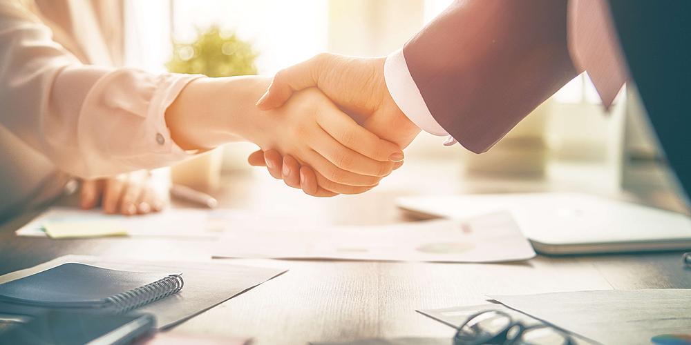 Verhandlung und Abschluss