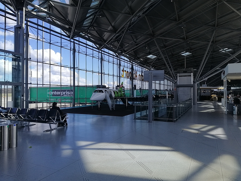 Mobiles Arbeiten am Flughafen